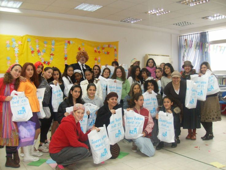 School class with their AZM goodies