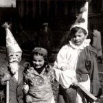 Children in costume on Purim in the Landsberg DP camp, Germany, 1947-1948