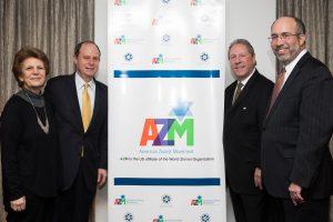 Incoming AZM President Richard D Heideman, Incoming Executive Director Herbert Block, Outgoing Executive Director Karen Rubinsten and Outgoing President Rabbi Vernon Kurtz at AZM Biennial Assembly 2017